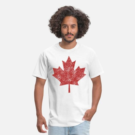 Leaf T-Shirts - Glitter Canadian T Shirt Red Maple Leaf Canada Day - Men's T-Shirt white