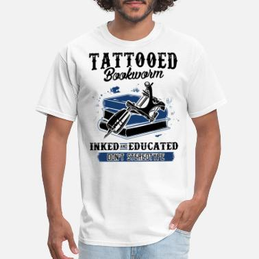 Chest Font Tattoo Tattooed Bookworm Classic T Shirt - Men's T-Shirt