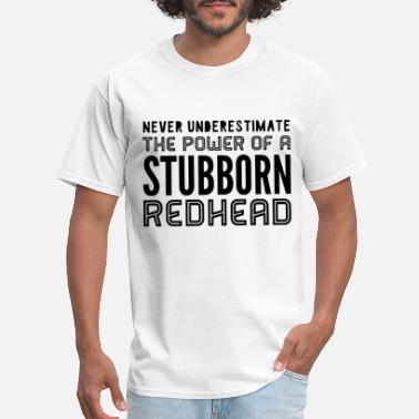 Gingers Do It Better STUBBORN REDHEAD V Neck t shirts - Men's T-Shirt