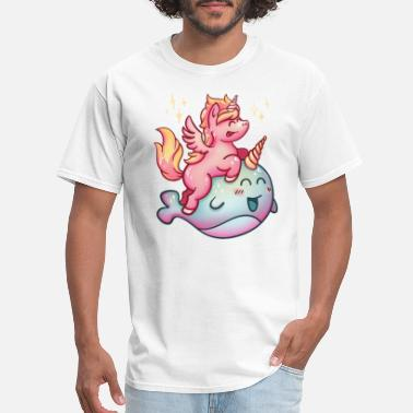 Narwhal The Unicorn unicorn narwhal - Men's T-Shirt