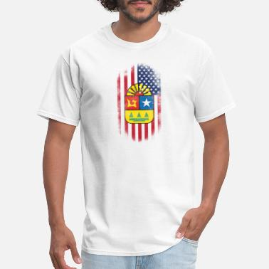 Roos Quintana Roo State American Flag - Men's T-Shirt