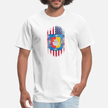 Baja Mexico Baja California Sur American Flag - Men's T-Shirt