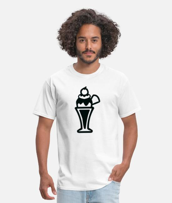 Chocolate Sauce T-Shirts - Ice cream and icecream symbol - Men's T-Shirt white