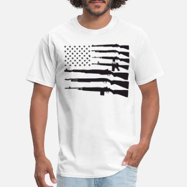 Pro Gun American Flag Guns Patriotic Usa Pride Gun Rights - Men's T-Shirt