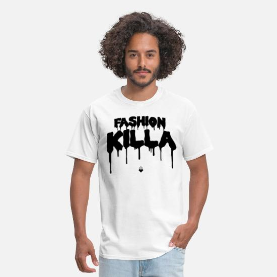 Asap Rocky T-Shirts - FASHION KILLA - A$AP ROCKY - Men's T-Shirt white