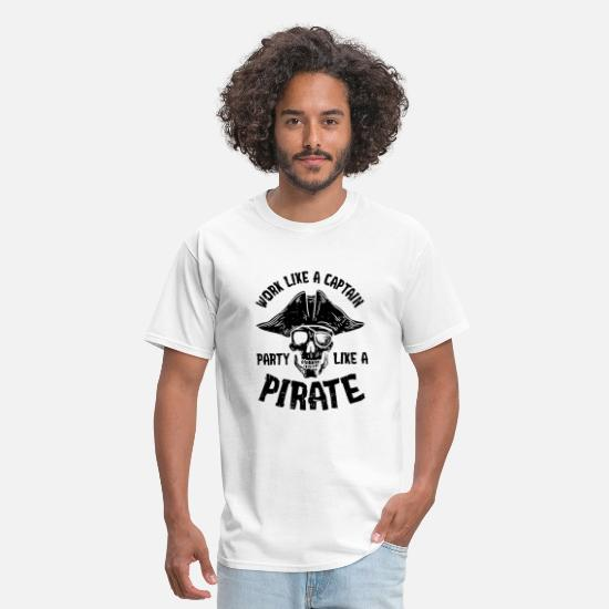 Drink-like-a-pirate T-Shirts - Funny Work Like A Captain Party Like Pirate Gift - Men's T-Shirt white
