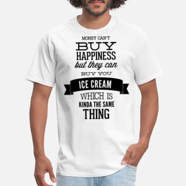 No Money Hockey money cant but happiness but they can buy ice - Men's T-Shirt