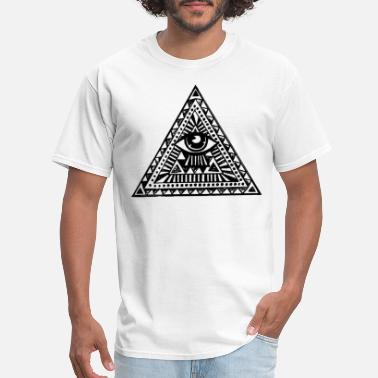 Aztec Illuminati Eyes Fashion Tumblr Vest Tank Top - Men's T-Shirt
