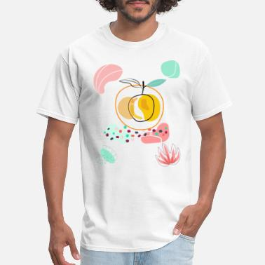 Orange Juice Orange shirt, Fruit art shirt. - Men's T-Shirt