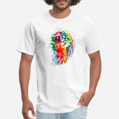 Watercolor watercolor tiger colorful neon - Men's T-Shirt