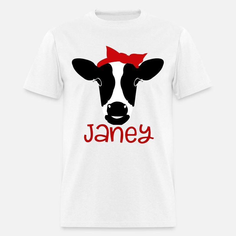 Cow Heifer bandana grunge sFarm SVG eps dxf Clip a Men's T-Shirt - grey tie  dye