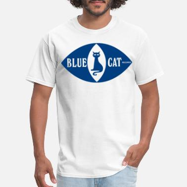 Jazz Cat BLUE CAT RECORDS TROJAN SKA JAZZ FUNK SOUL cat ill - Men's T-Shirt