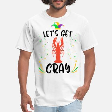 Purple Flag Mardi Gras Crawfish Let's Get Cray Tee Women - Men's T-Shirt