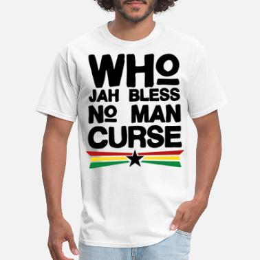 British Flag Who Jah Bless Women s jamaican - Men's T-Shirt