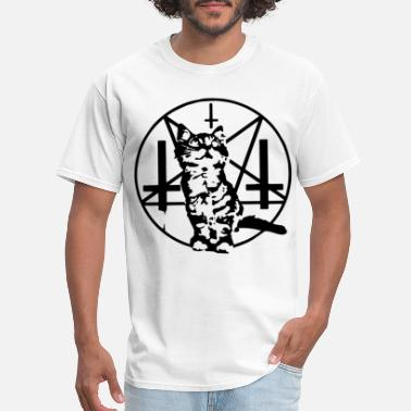 Satan Kitten PURRRRR EVIL Satanic Cat Kitten Baphomet Baseball - Men's T-Shirt
