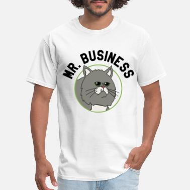 Business Mr Business Adult Heather Gray cat - Men's T-Shirt