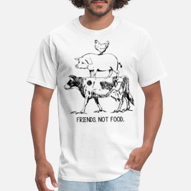 Vegan Vegan Farm Animal Friends Not Food Vegetarian Cow - Men's T-Shirt