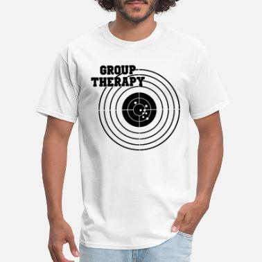 Group Therapy Mens Amendment Gun Target Shooting P - Men's T-Shirt