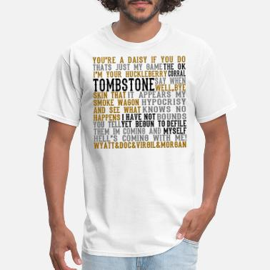 Quote Tombstone Movie Quotes - Men's T-Shirt