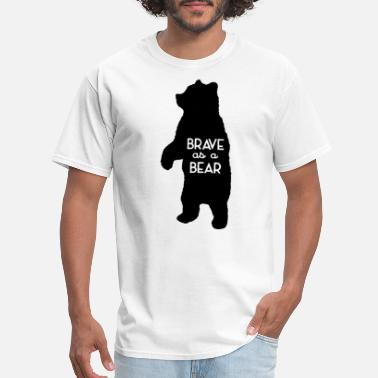 Logan For Kids Brave as a Bear Screenprint Kids Tee Bear Toddler - Men's T-Shirt