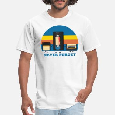Never Never Forget Floppy Disk VHS and Cassette Tape - Men's T-Shirt