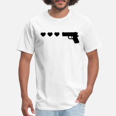 Gun Sportswear Gun Heart Ringer Tee Womens Top Tank Ladies Funny - Men's T-Shirt