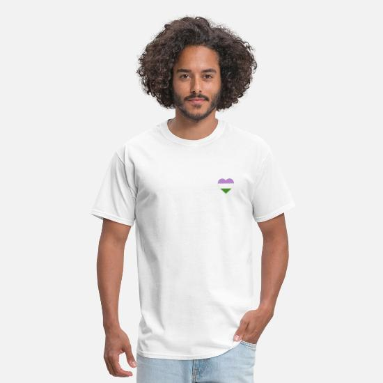 Flag T-Shirts - Heart with Non-Binary Pride Flag - Men's T-Shirt white