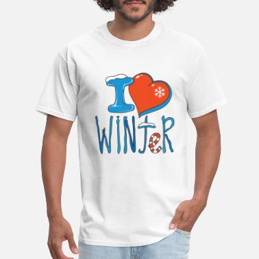 Winter I love winter - Men's T-Shirt