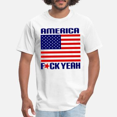 America Fck Yeah 4Th Of July Patriotic Celebration - Men's T-Shirt