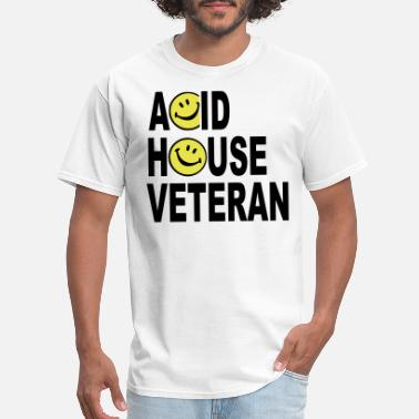House Acid House Veteran Smiley Logo - Men's T-Shirt