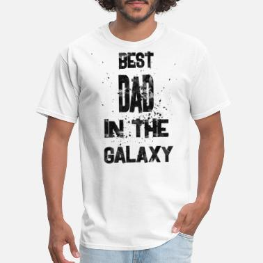 No 1 Best Dad best dad in the galaxy 1 - Men's T-Shirt