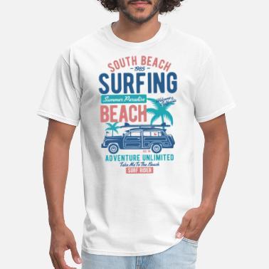 6efef4af0e631f South Beach Surfing Summer - Men  39 s T-Shirt