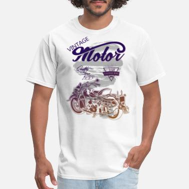 Graphic Motorcycle Vintage Motorcycle Gradient Graphic Design - Men's T-Shirt
