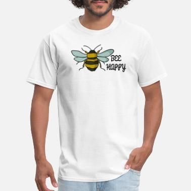 Bee Wings Bee Happy bees nature insect wings beekeeper honey - Men's T-Shirt