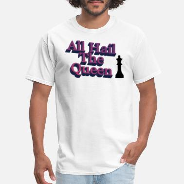 Amp Queen AMPED All Hail The Queen With Chess Piece T-Shirt - Men's T-Shirt