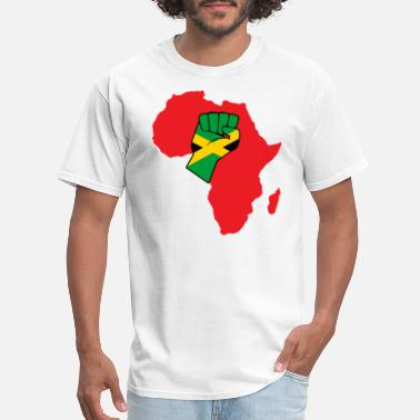 Jamaica Colors Jamaican flag raised fist - Men's T-Shirt