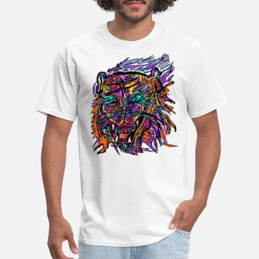 Colourful Tiger, Colorful Tiger, Cartoon - Men's T-Shirt