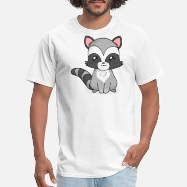 Cartoon Racoon Drawing Clipart Emoticon - Men's T-Shirt