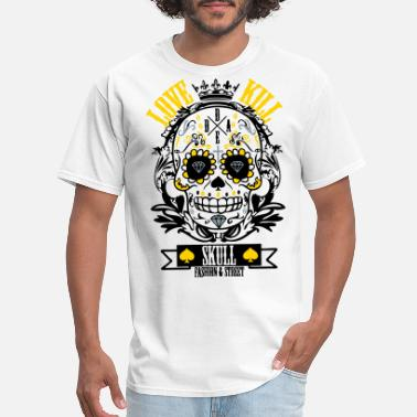 High-quality Skull love Kill - Men's T-Shirt