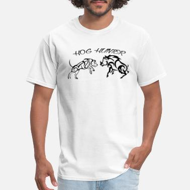 Hog Art Design Hog Hunter - Men's T-Shirt