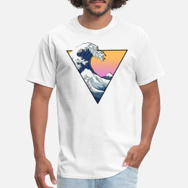 Aesthetic Great Wave Aesthetic - Men's T-Shirt