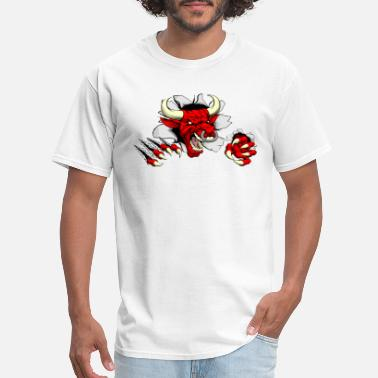 Angry Red angry bull - Men's T-Shirt