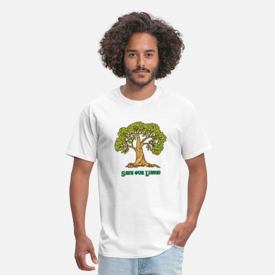 Enviromental T-Shirts - save our lungs - Men's T-Shirt white
