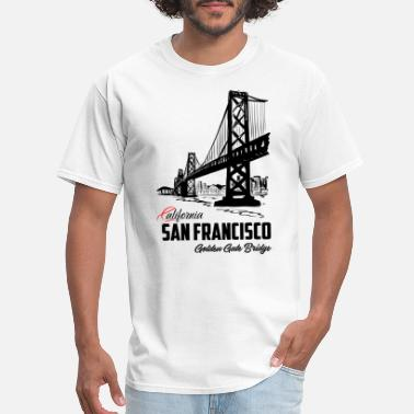 Gate San Francisco Golden Gate Bridge California - Men's T-Shirt