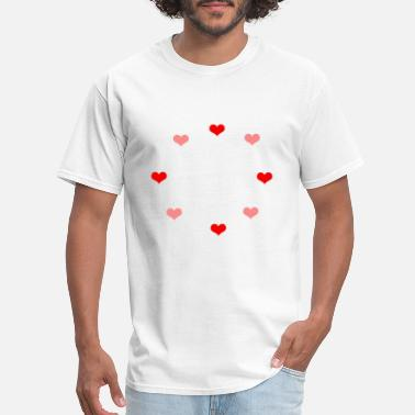 Like Sex Thank you Orgasm Sex Valentine Gift Couple Hearts - Men's T-Shirt