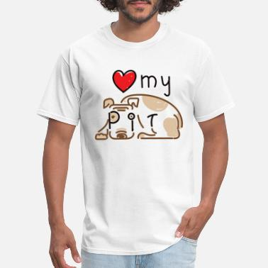 Parole LOVE MY PIT - Men's T-Shirt