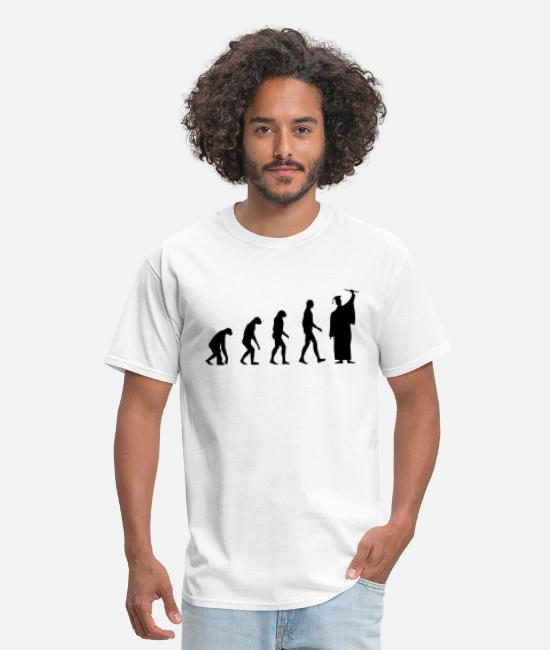 Studies T-Shirts - Evolution Student Diploma - Men's T-Shirt white