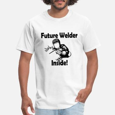 Rated M Future Welder Inside Maternity The Welder did it M - Men's T-Shirt