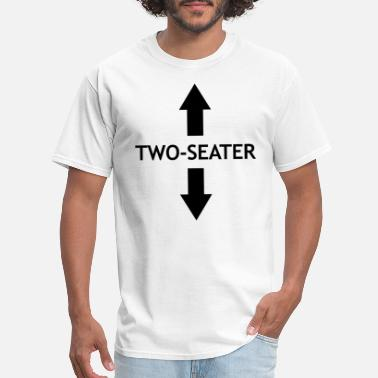 Two TWO SEATER ARROW FUNNY - Men's T-Shirt