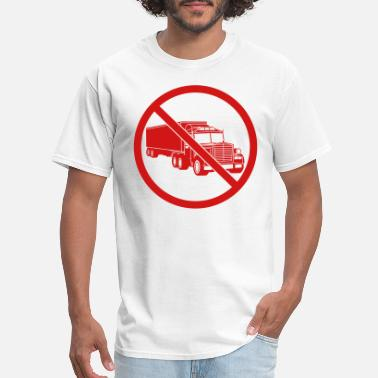 Truck Driving zone sign danger caution note warning caution fron - Men's T-Shirt